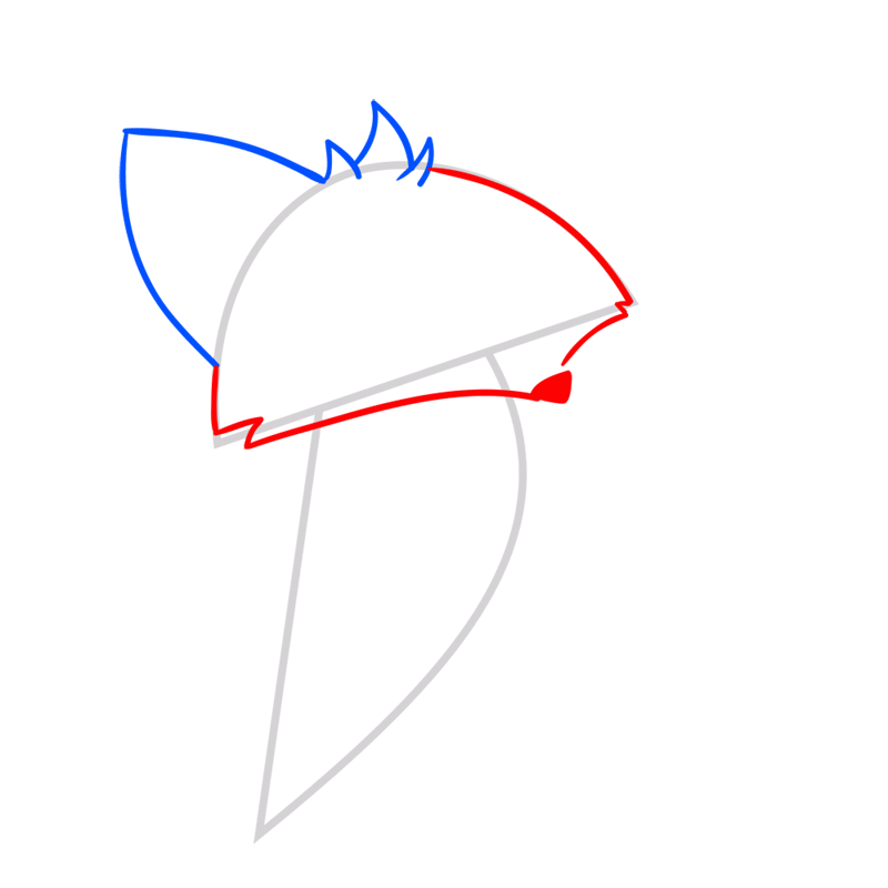 Learn easy to draw Fox step 03