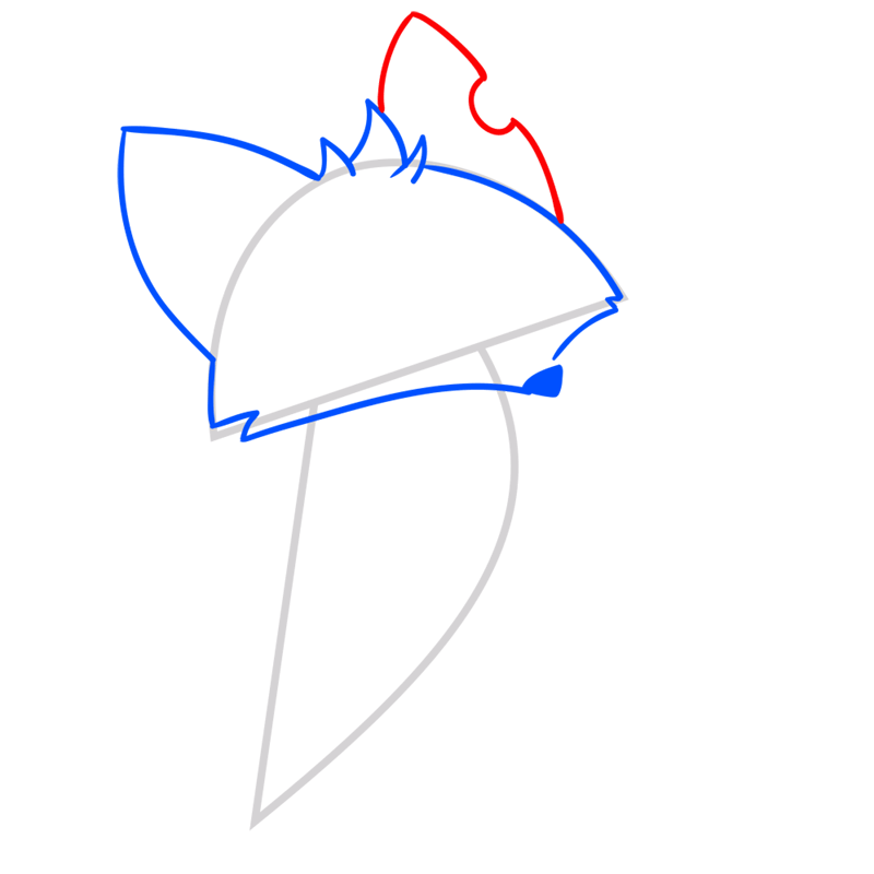 Learn easy to draw Fox step 04