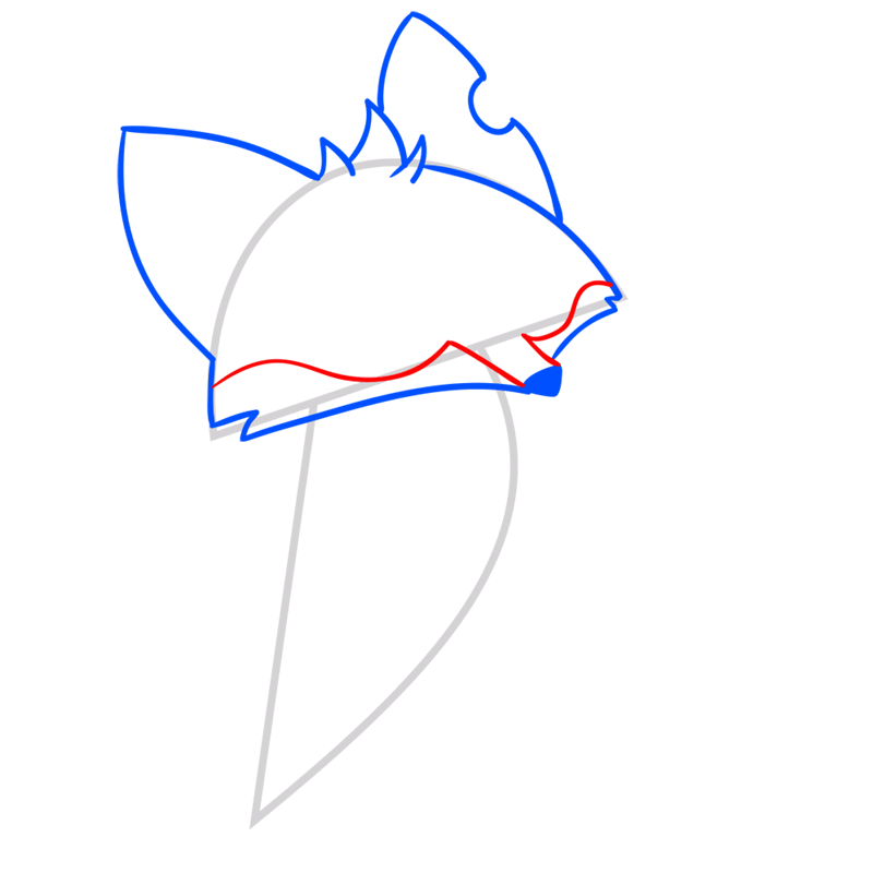 Learn easy to draw Fox step 05