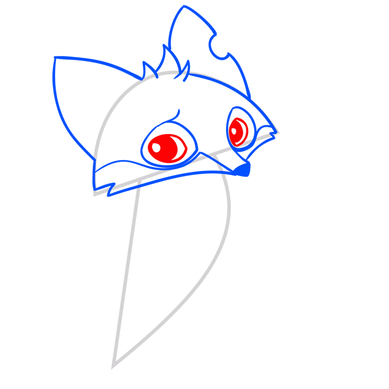 Learn easy to draw Fox step 07