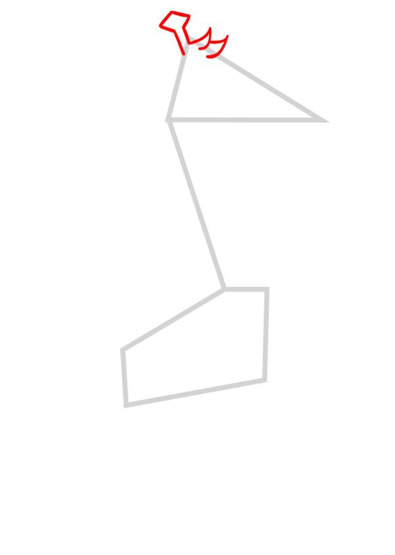 Learn easy to draw Giraffe step 02