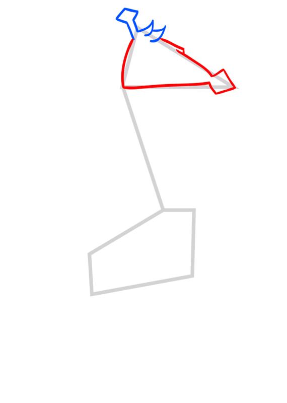 Learn easy to draw Giraffe step 03