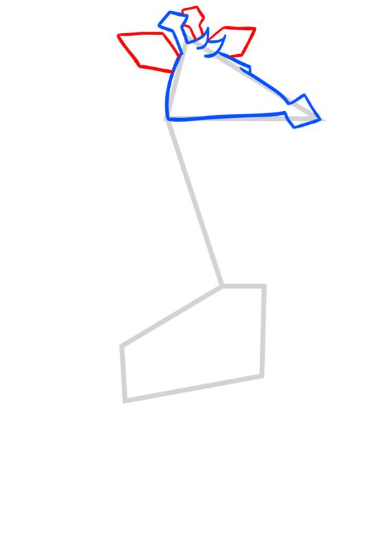 Learn easy to draw Giraffe step 04