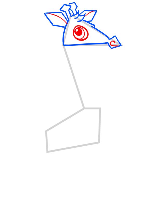 Learn easy to draw Giraffe step 05