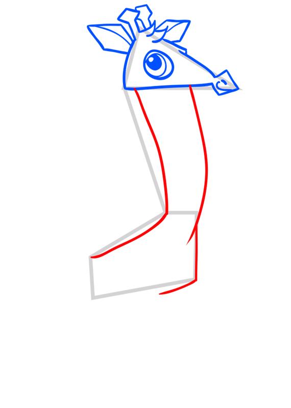 Learn easy to draw Giraffe step 06