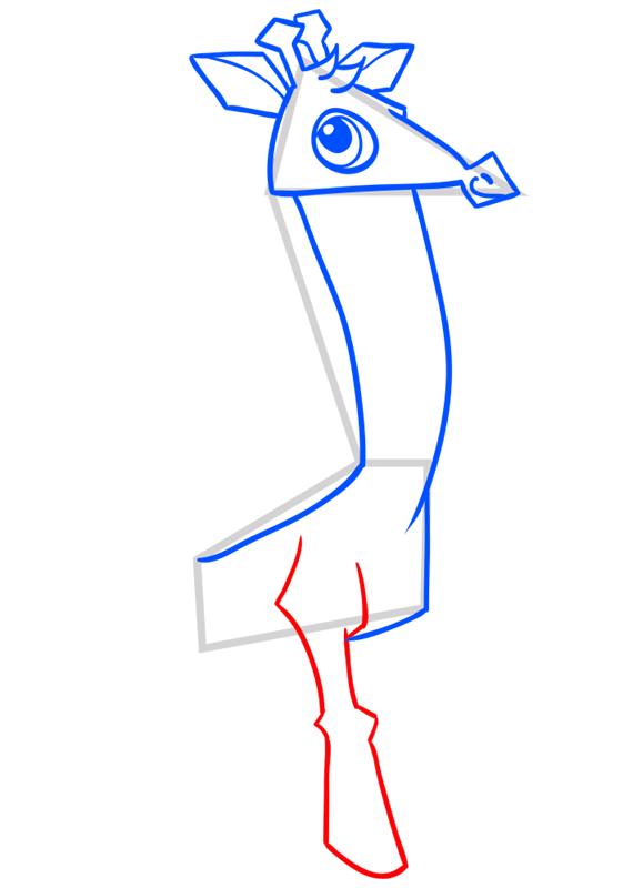 Learn easy to draw Giraffe step 07