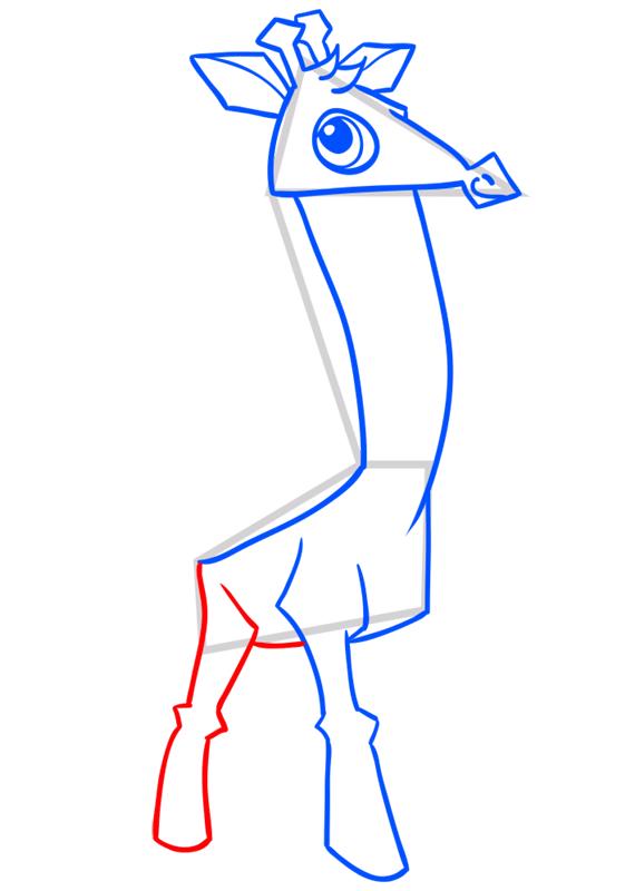 Learn easy to draw Giraffe step 08