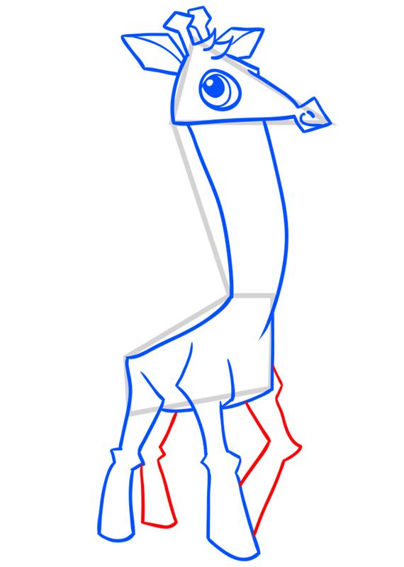 Learn easy to draw Giraffe step 09