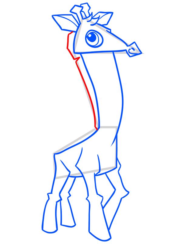 Learn easy to draw Giraffe step 10
