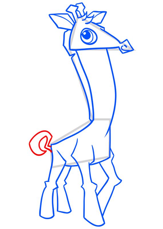 Learn easy to draw Giraffe step 11