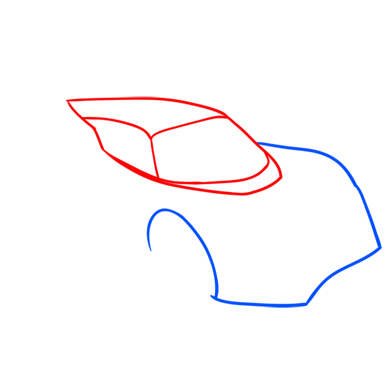 Learn easy to draw Hennessy Venom F5 step 02