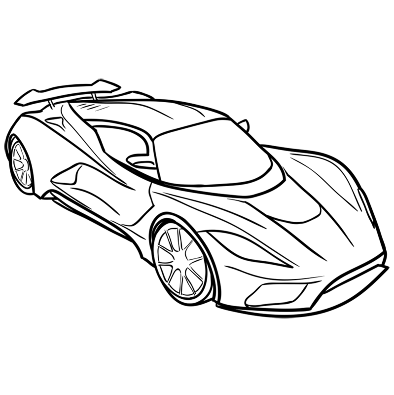 Learn easy to draw Hennessy Venom F5 step 09