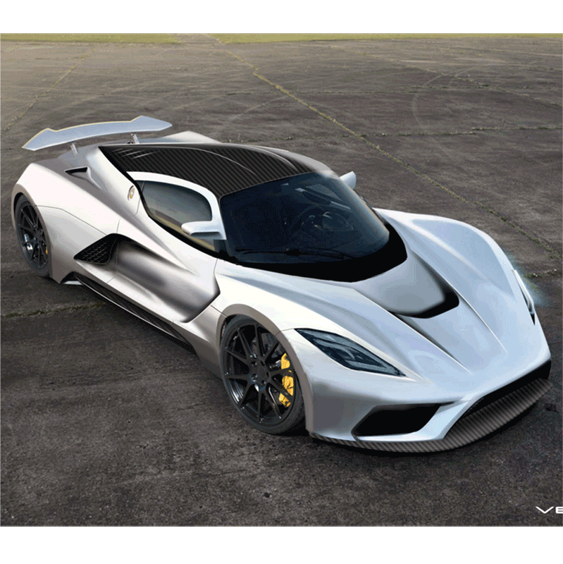 Learn easy to draw Hennessy Venom F5 step 10