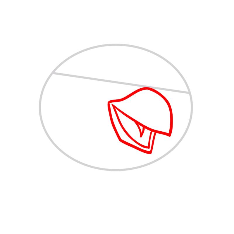 Learn easy to draw Hockey Bird step 02