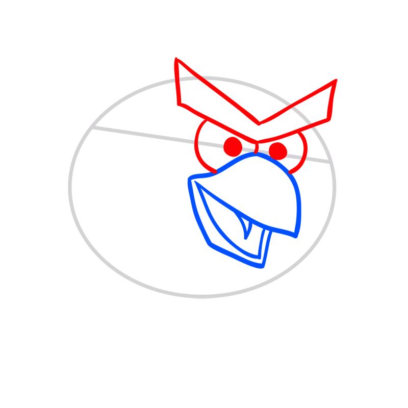 Learn easy to draw Hockey Bird step 03