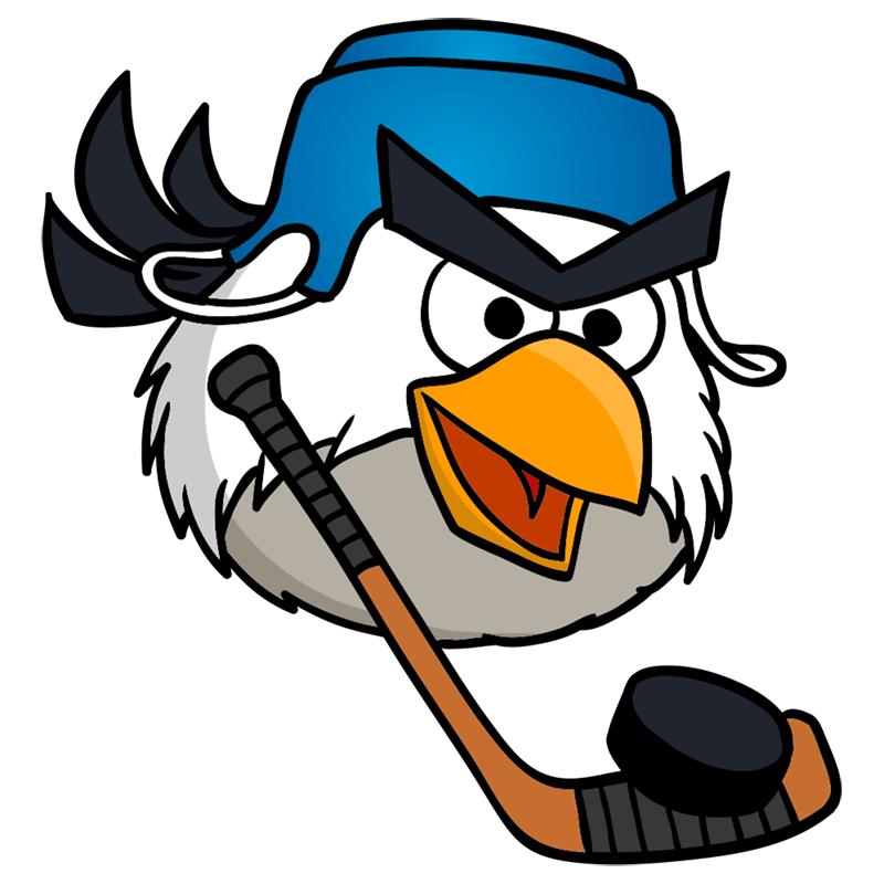 Learn easy to draw Hockey Bird step 10