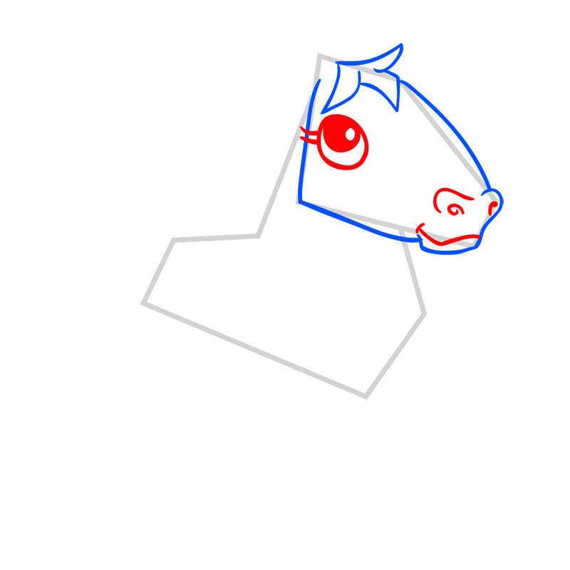 Learn easy to draw Horse step 04