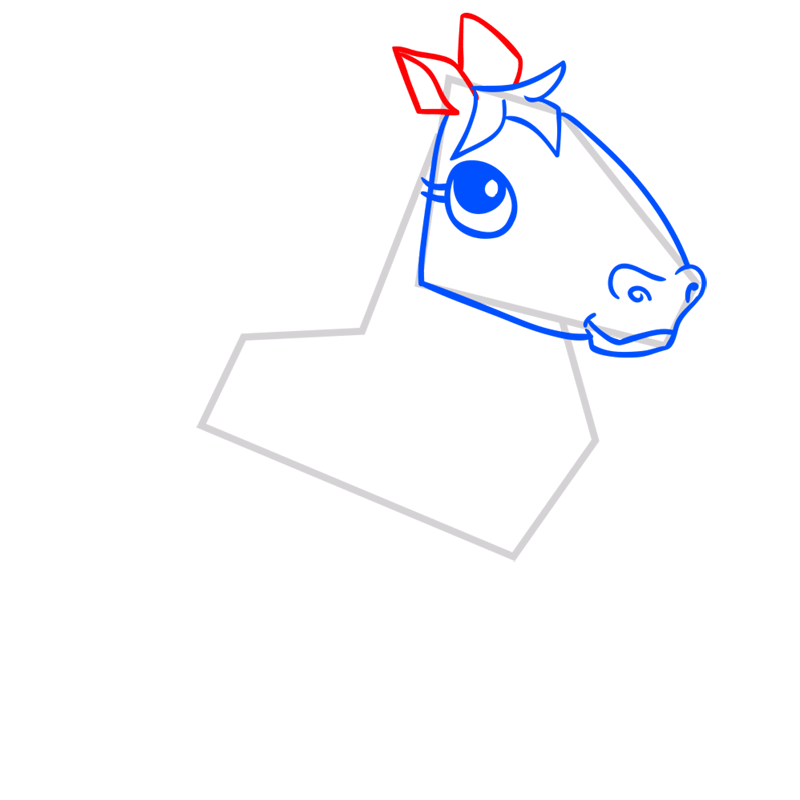 Learn easy to draw Horse step 05