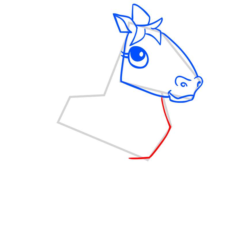 Learn easy to draw Horse step 06