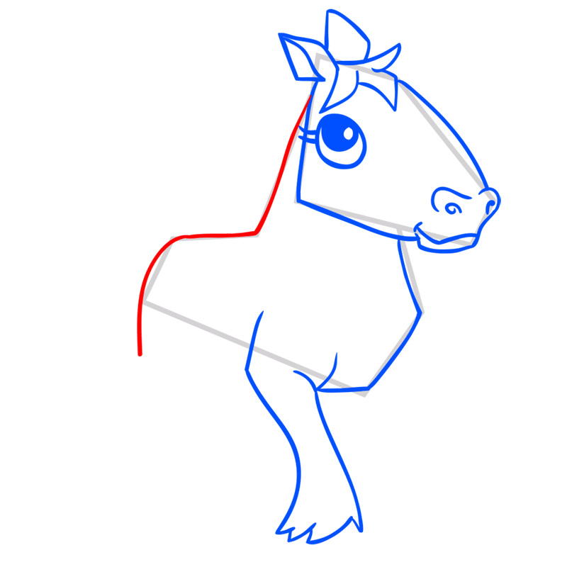 Learn easy to draw Horse step 08