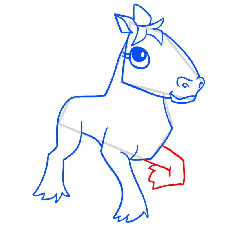 Learn easy to draw Horse step 10