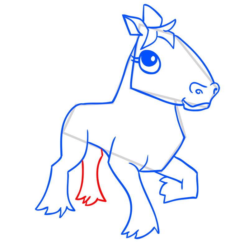 Learn easy to draw Horse step 11