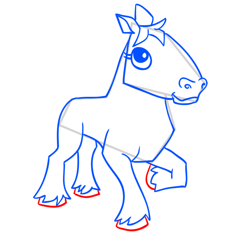 Learn easy to draw Horse step 12