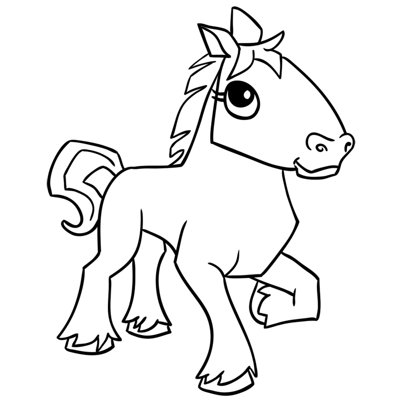 Learn easy to draw Horse step 15