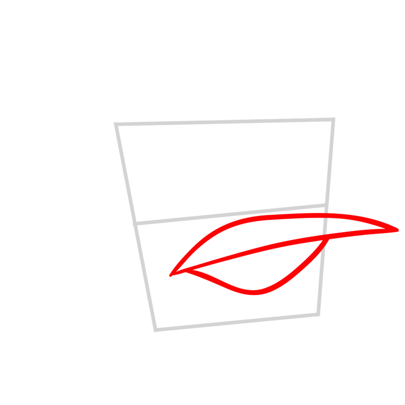 Learn easy to draw Ice Bird step 02
