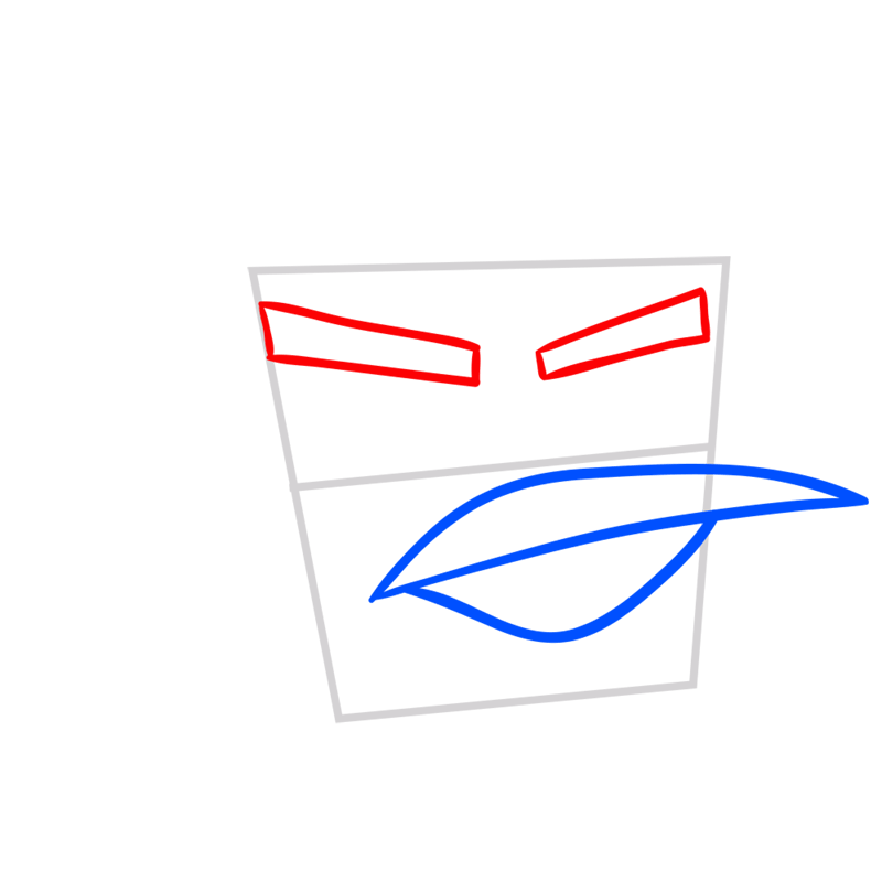 Learn easy to draw Ice Bird step 03