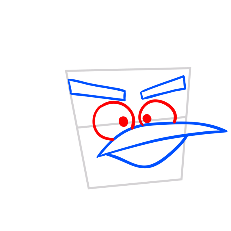 Learn easy to draw Ice Bird step 04