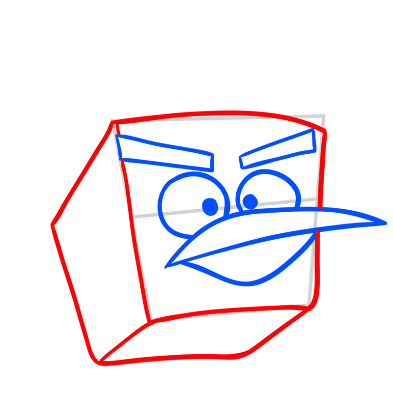 Learn easy to draw Ice Bird step 05