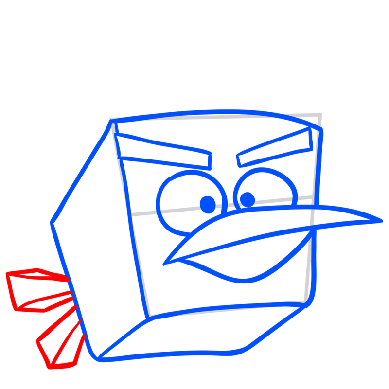 Learn easy to draw Ice Bird step 06