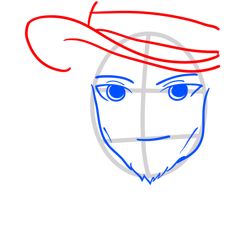 Learn easy to draw Johnny Depp step 04