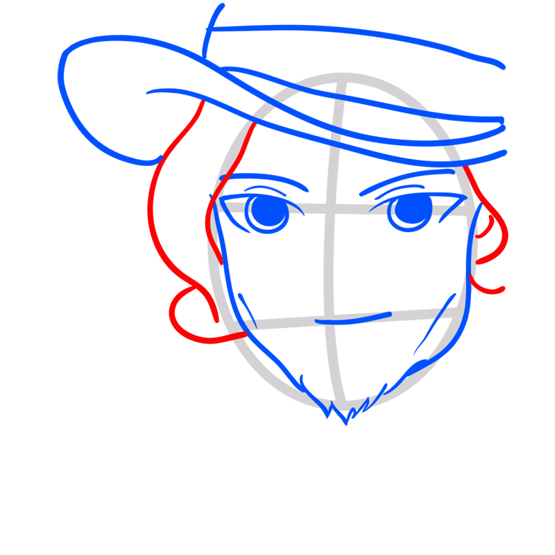 Learn easy to draw Johnny Depp step 05
