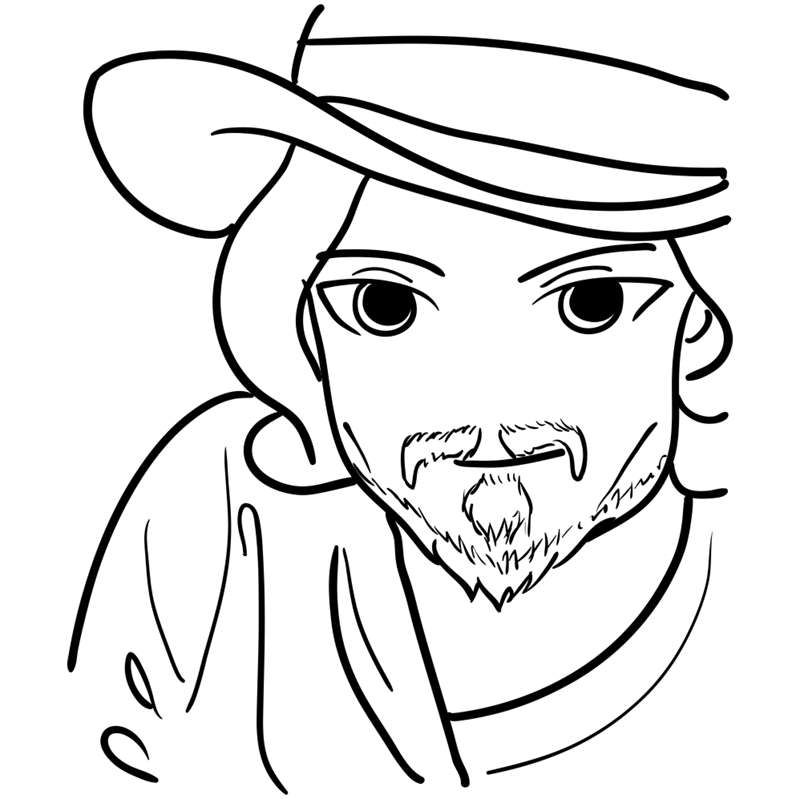 Learn easy to draw Johnny Depp step 09
