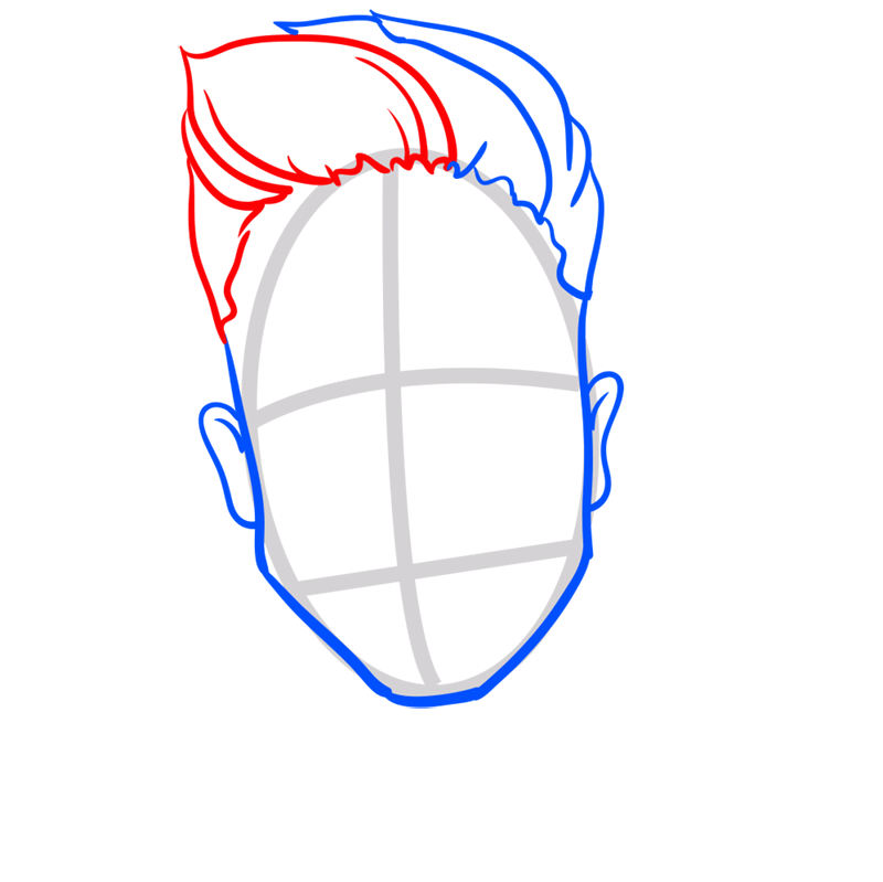 Learn easy to draw Justin Bieber step 05