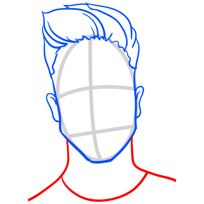 Learn easy to draw Justin Bieber step 06