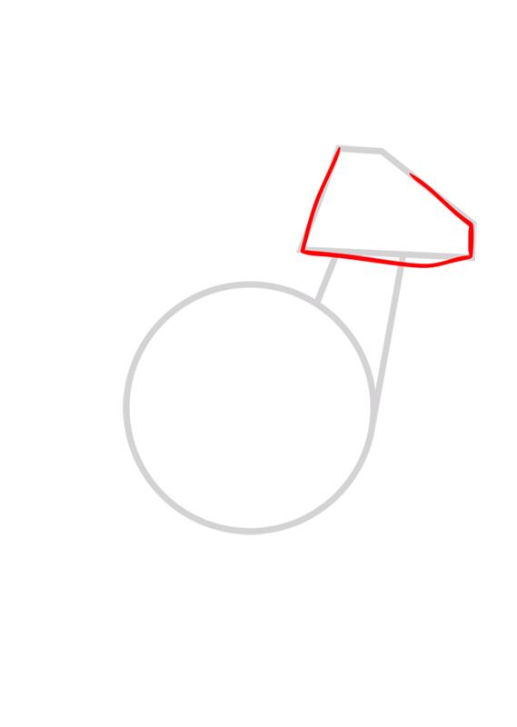 Learn easy to draw Kangaroo step 02