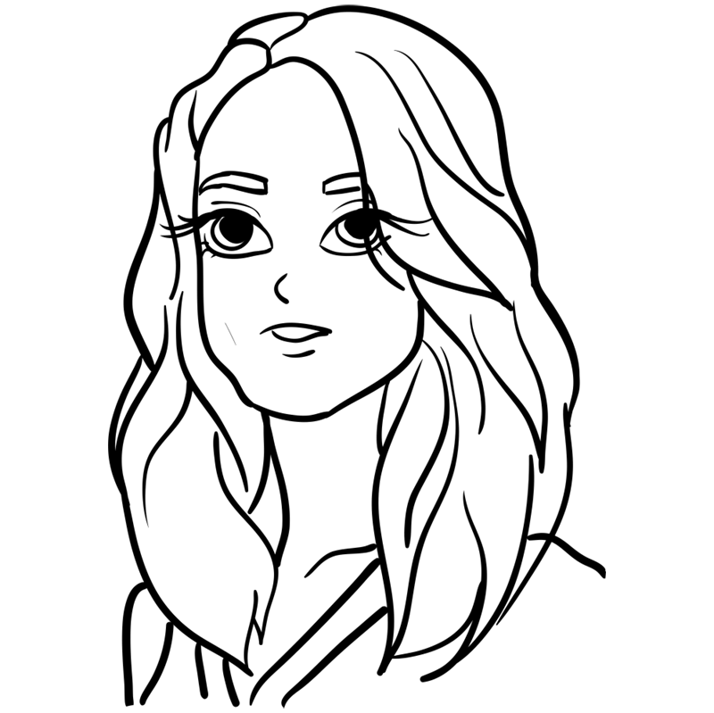 Learn easy to draw Keira Knightley step 09