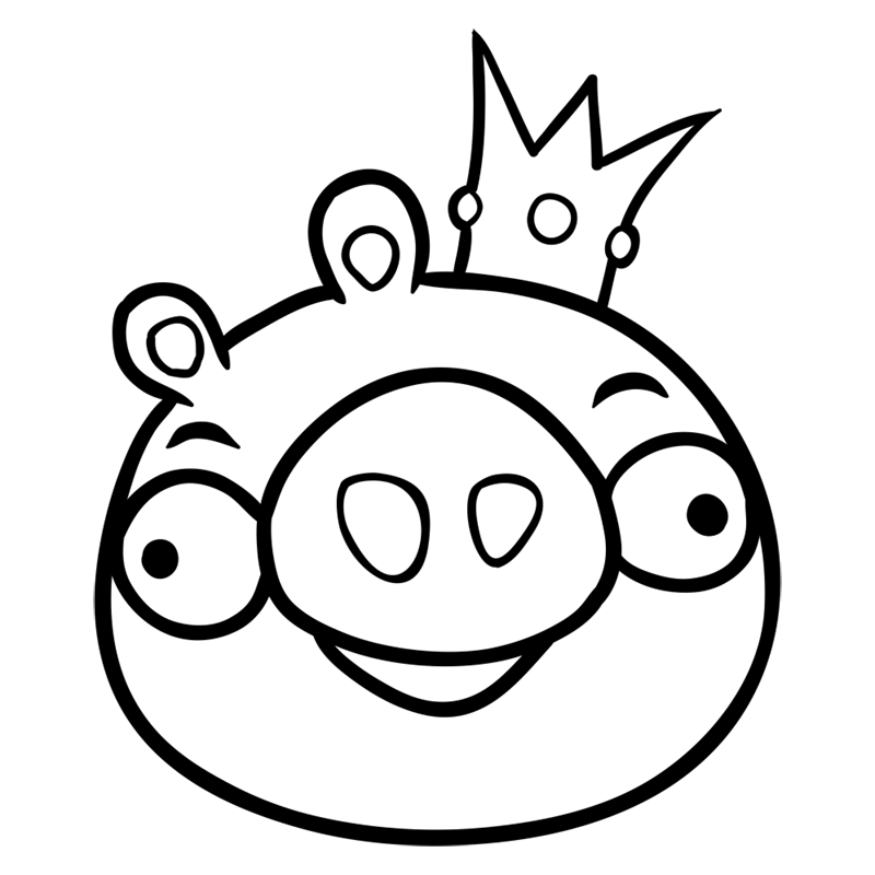 Learn easy to draw King Pig step 07