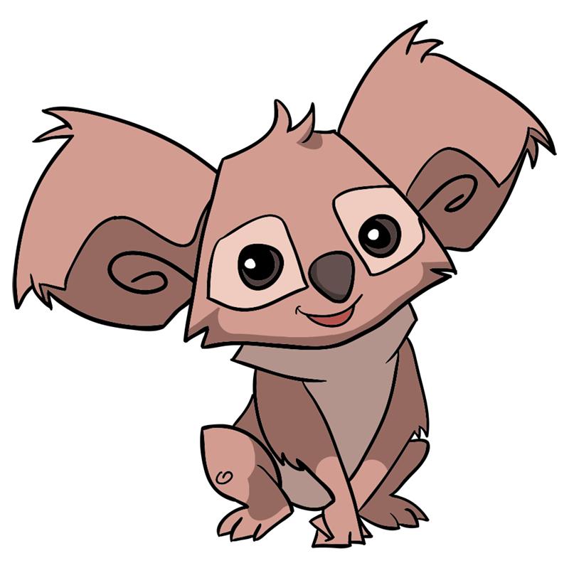 Learn easy to draw Koala step 00