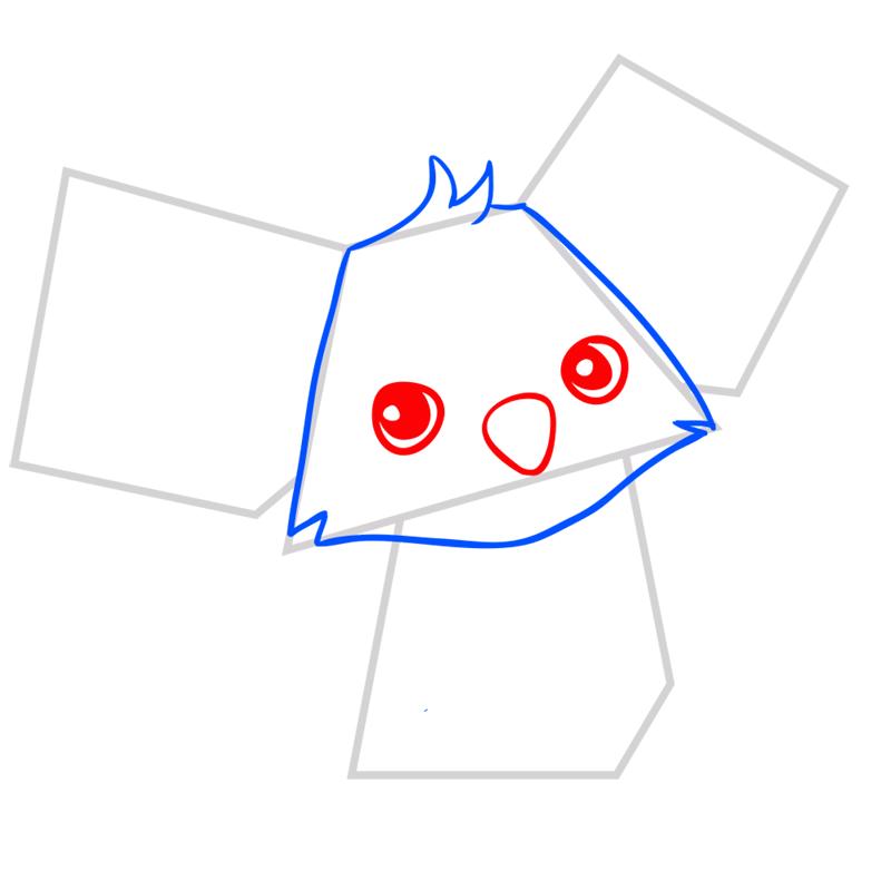 Learn easy to draw Koala step 03