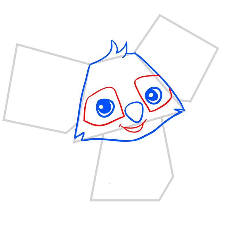 Learn easy to draw Koala step 04