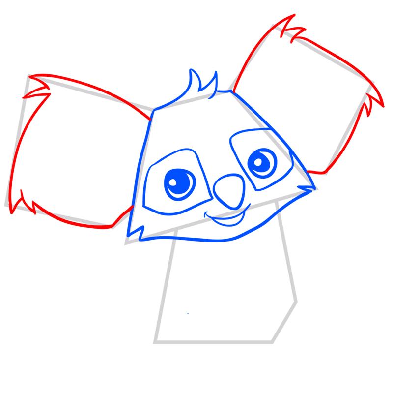 Learn easy to draw Koala step 05