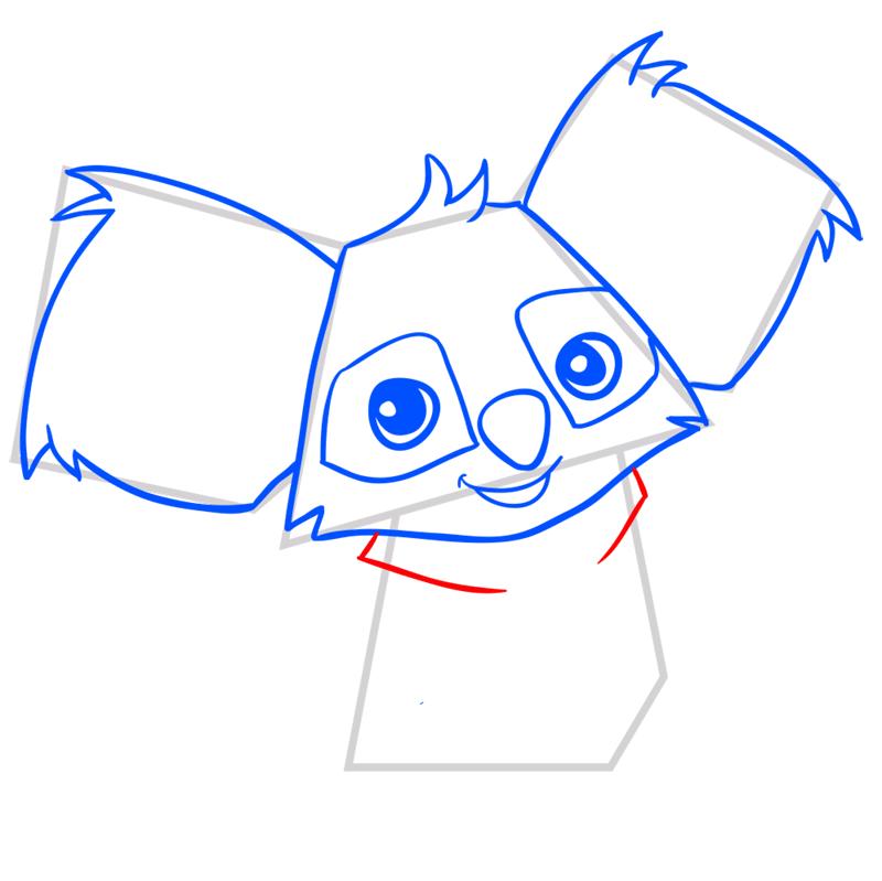 Learn easy to draw Koala step 06