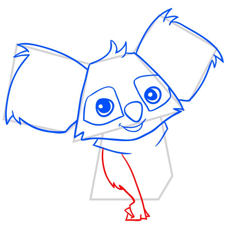 Learn easy to draw Koala step 07