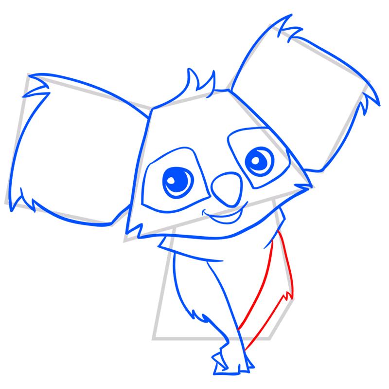Learn easy to draw Koala step 08