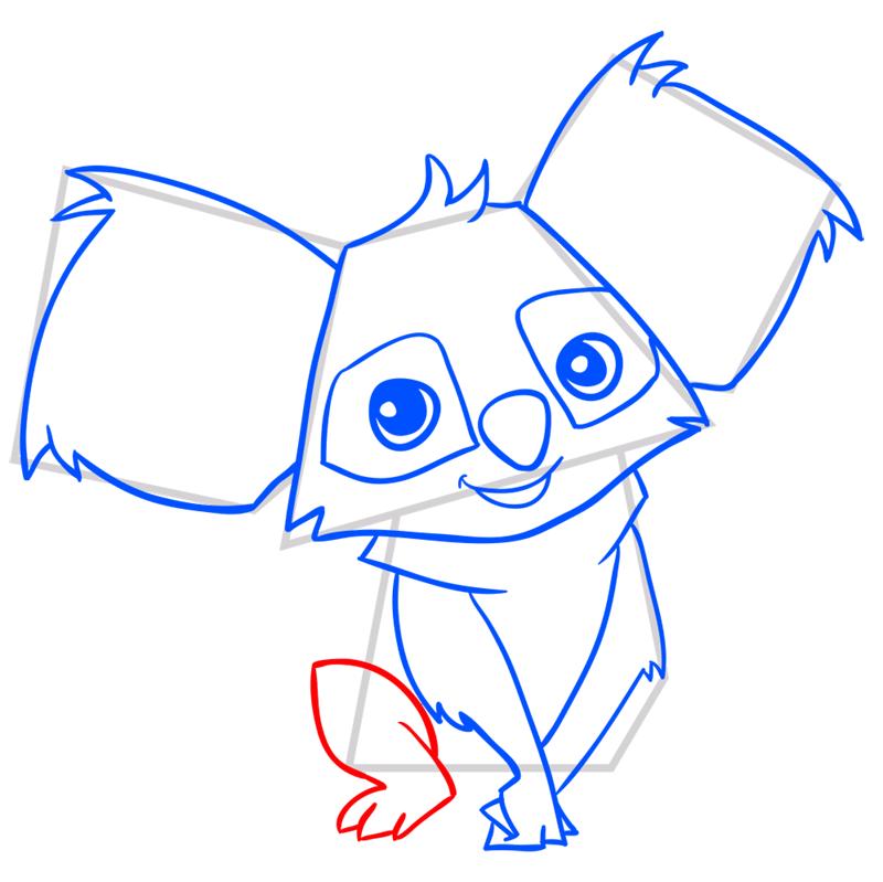 Learn easy to draw Koala step 09