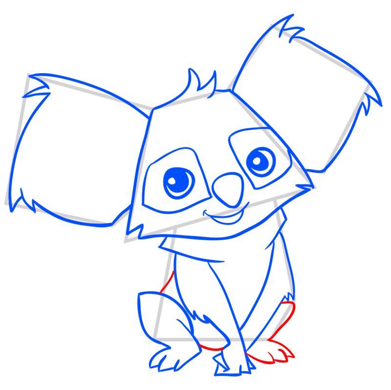 Learn easy to draw Koala step 10